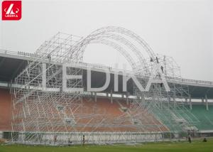 China Special Customized Aluminum Shape Space Frame Truss Building Construction on sale