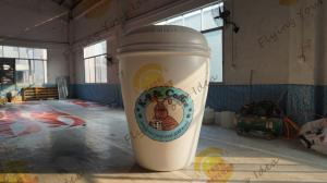China Customizable Inflatable Coffee Cup Replica For Club Party Decoration on sale