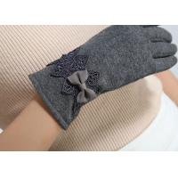 China Ladies customized women's fashion micro velvet fabric gloves for iphone screens on sale