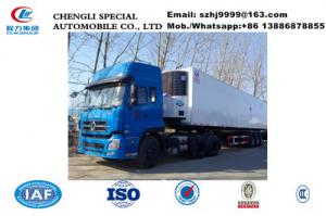 China Factory sale CLW 3 axles refrigerator van trailer with dependent reefer, Wholesale best price 13.8m reefer van trailer on sale