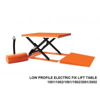 1000 Kg Capacity Low Profile Lift Table , Hydraulic Scissor Lift Table Cart