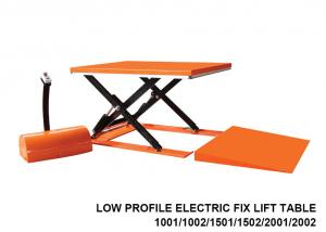 China 1000 Kg Capacity Low Profile Lift Table , Hydraulic Scissor Lift Table Cart on sale