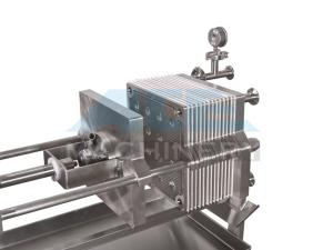 China Small Size Stainless Steel Manual Plate and Frame Filter Press on sale