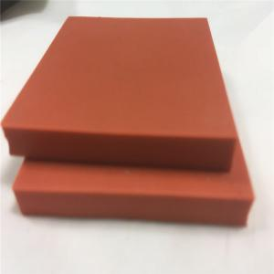 China Custom low hardness red color silicone sponge foam rubber for heat pressing machine on sale