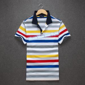 China Newest Striped Polo Shirt for men ,Men's 100% Cotton casual Polo shirt supplier