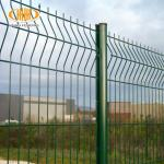 welded 3d curved wire mesh fence with peach- type post factory and exporter