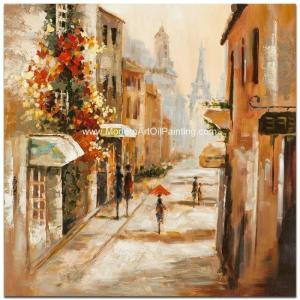 China Impression Modern Art Oil Painting , Paris Street Oil Painting Wall Art on Canvas on sale