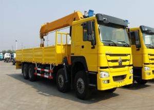 China 360° All Rotation Truck Mounted Crane 371HP Engine HOWO Chassis 10m Crane Jib on sale