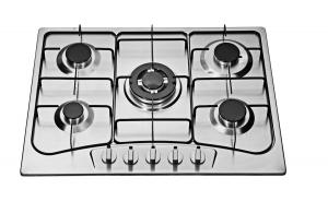 Quality Auto Igntion 90cm 5 Burner Gas Hob , Built In 5 Ring Stainless Steel Gas Burner for sale
