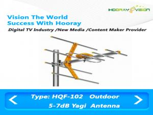 China 5-7 dBi Terrestrial TV Aerial DVB - C System Yagi UHF Antenna For Long Distance Communication on sale