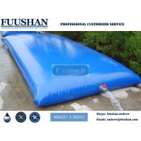 Fuushan PVC Bladder Inflatable Water Storage Tanks , High Strength Coated Fabric 10500Lt