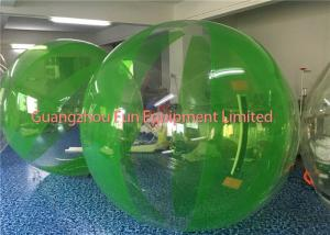 China Green Inflatable Water Walking Ball Roll Inside High Performance Environment Friendly on sale
