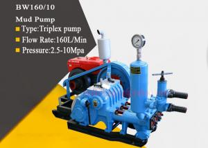 China Triplex Single Acting Mud Pump In Drilling Rig , Reciprocating Piston Pump on sale
