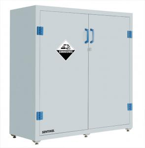Quality Lab Solvent Plastic Double Door Chemical Storage Cabinet Corrosive  , 30 Gallon For Sale ...