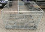Industrail Wire Mesh Pallet Cages , Warehouse Folding Wire Mesh Storage Boxes