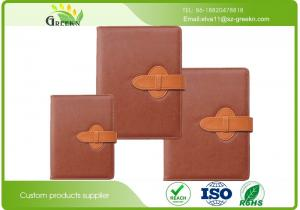 China Soft Leather Cover Custom Printed Notebooks , Company Branded NotebooksWith Pen on sale