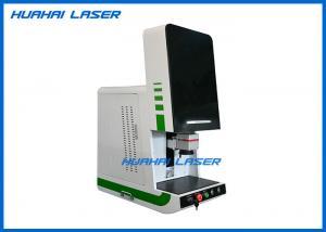 China Metal Nameplate Fiber Laser Marking Machine 20 Watt Enclosed Run Without Maintenance on sale