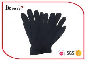 China Black Polar Fleece Warmest Winter Gloves For Men , Mens Common Style Gloves on sale