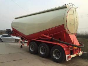 China Dongfeng 40m3 Bulk Cement Tanker Trailer , Cement Carrier Truck ISO Approved on sale