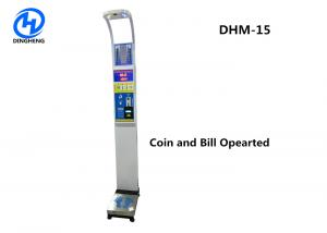 China Ultrasonic Coin Balance Bmi Scale Machine , Personal Height Weight Meter on sale