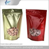 Red / Golden Ziplock Storage Bags Sealable Plastic Bags Custom Made