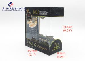 China Hand Lock Bottom Super Clear Window Custom Printed Plastic Boxes Pack Noodle on sale
