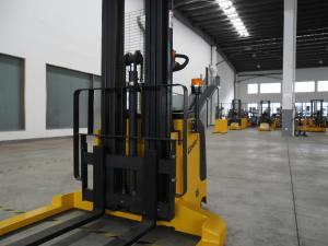 China 1.5 Ton Fork Lift Stacker With Wide Leg Width / Electric Straddle Stacker on sale