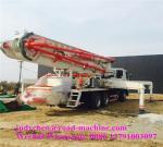 Crescimento-tipo altura concreta do tipo 37m de XCMG do alcance do caminhão 37.4M da bomba do cimento do crescimento do caminhão da bomba concreta