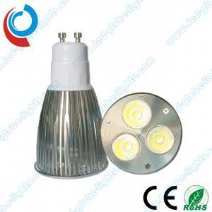 China Cool White 3 X 2W 6 Watt GU10 / E27 Cree, Epistar, Edison Dimmable LED Light Bulbs on sale