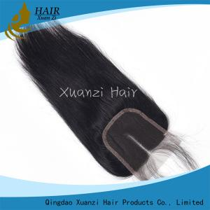 China Natural Part Brazilian Straight Lace Closure 100% Human Hair No Chemical on sale