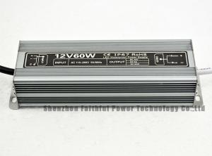 China DC 12V 60W 5A Aluminium Waterproof LED Light Transformer SMPS LED Sign Transformer for LED Strip on sale