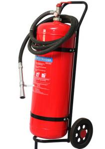 China Wheeled Trolley Type ABC Dry Powder Fire Extinguisher 50KG Smooth Surface Light on sale