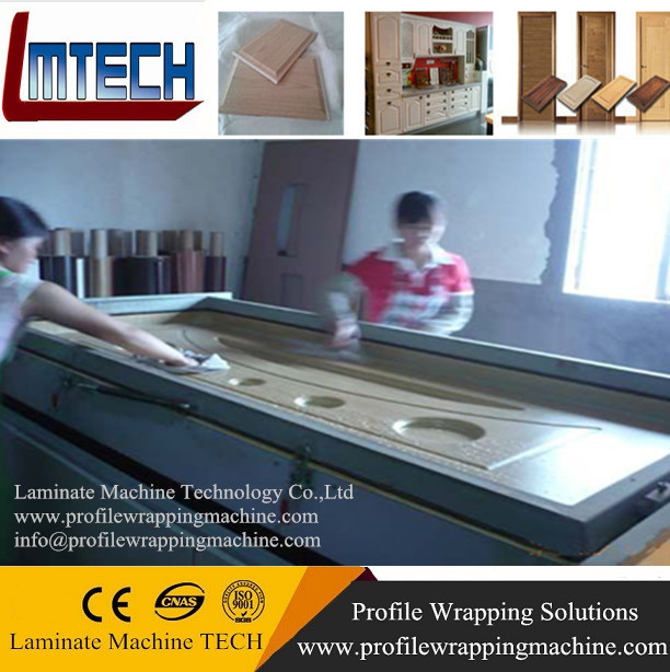Thermofoil Kitchen Cabinets Vacuum Membrane Press Machine For Sale