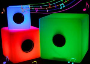 China Illuminated Glow Bluetooth LED Music Cube Rechargeable With Colorful Lighting Changing on sale