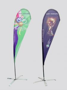 China Outdoor beach flag advertising feather shape custom size custom flags banners on sale