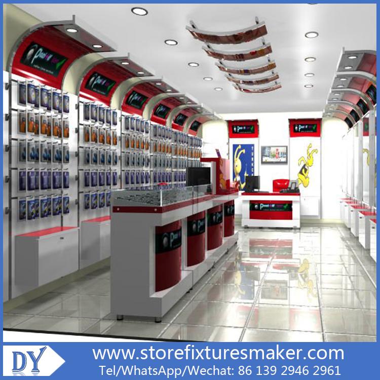Retail Store Design Job Description: Mobile Phone Shop Interior Design,cell Phone Showcase
