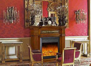 China Enegy Saving Deco Flame European Electric Fireplace , Solid Wood Fireplaces on sale