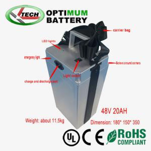 China 20ah 48v Lifepo4 Battery Pack Rechargable Optimum Battery Device on sale