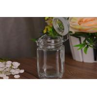 China Airtight Glass Kitchen Storage Jars Container Rubber Seal Eco Friendly on sale