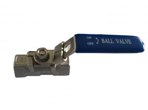 China DN100 Metal Ball Valve , CF8M Female And female threaded ball valve on sale
