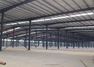 China Assembled Custom Design Warehouse , Prefabricated Light Warehouse Roof Structure on sale