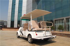Quality White 6 Seater Electric Car For Sightseeing Patrol With Six Seats