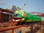 Professional Amusement Park Roller Coaster , Carnival Worm Roller Coaster
