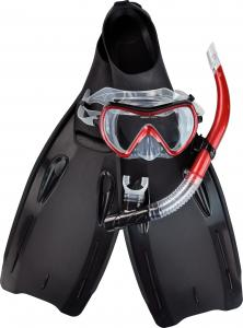 China Tempered Glass Diving Masks Snorkel Set Mask And Fins Set Wide View With Larger Lens on sale