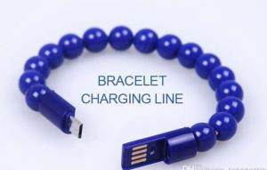 China Buddha Beads Micro USB Charger Cable Data Sync Bracelet Charging Cord for andriod samsung on sale