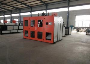 China Estação giratória do dobro da máquina de molde do sopro da extrusão plástica do aquecimento do parafuso para os Pp materiais on sale