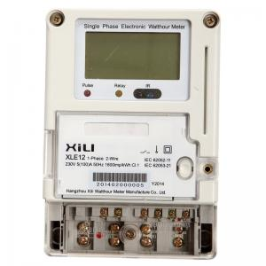 China Remote Reading Domestic Wireless Energy Meter 1 Phase with GPRS Modules on sale