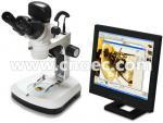 7x - microscopios ligeros reflejados A32.2601 del microscopio óptico estéreo de Digitaces del enfoque 46x