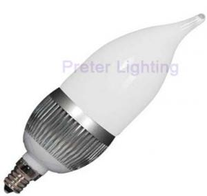 China High power 1W SMD AC100 - 240V 50 / 60Hz 20lm dimmable LED candle bulbs on sale