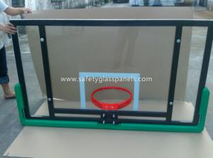 China Adjustable Laminated Glass Basketball Backboard 8mm / 10mm / 12mm on sale